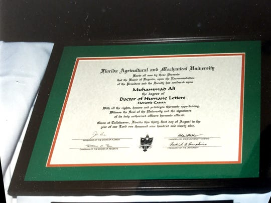 Honorary doctorate awarded to Muhammad Ali in 1999