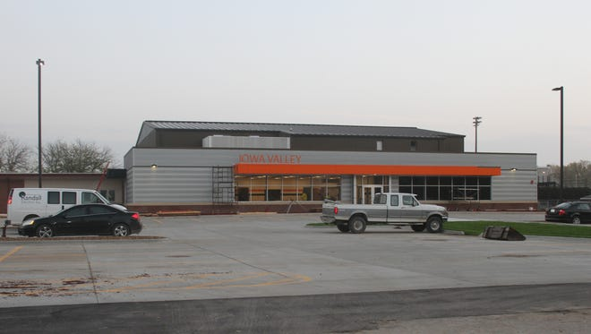 A ribbon cutting for the new Iowa Valley elementary school gymnasium will be 2:30 p.m. Wednesday, Oct. 18. A tailgate-style open house will follow on Friday, Oct. 20.
