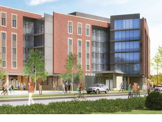 A proposed residence hall at Ball State University