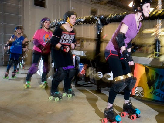 Roller derby may not be a conventional mom's night