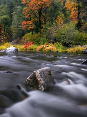 Fall colors usually arrive in October in Plumas County, California, an area not usually considered by tourists.