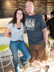 Mat and Sharry Englehorn own Angels Trumpet Ale House in downtown Phoenix.