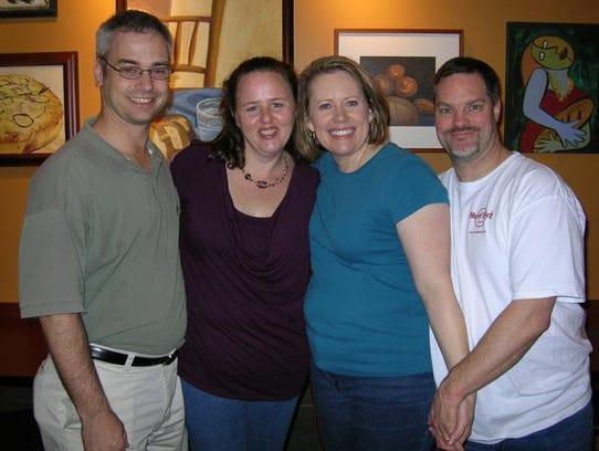 Chris, left, and Becky Henderson, who already had three