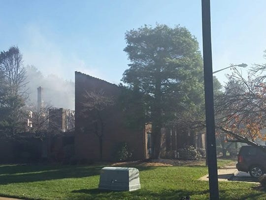 North Brunswick housing complex damaged by fire.