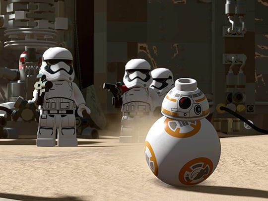 """BB-8 is literally on a roll in """"LEGO Star Wars: The Force Awakens."""""""