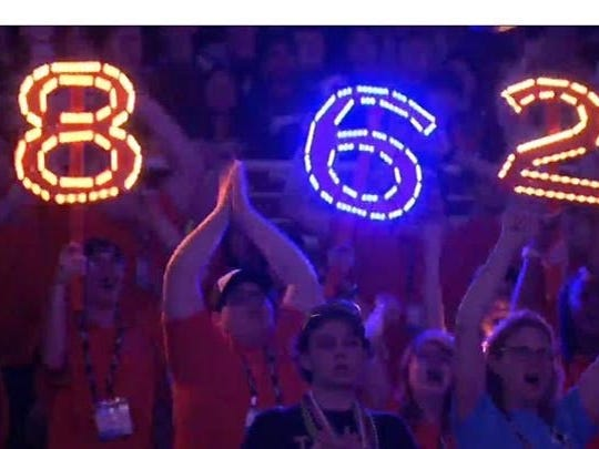 Support was high for Lighting Robotics Team 862 from Plymouth-Canton.
