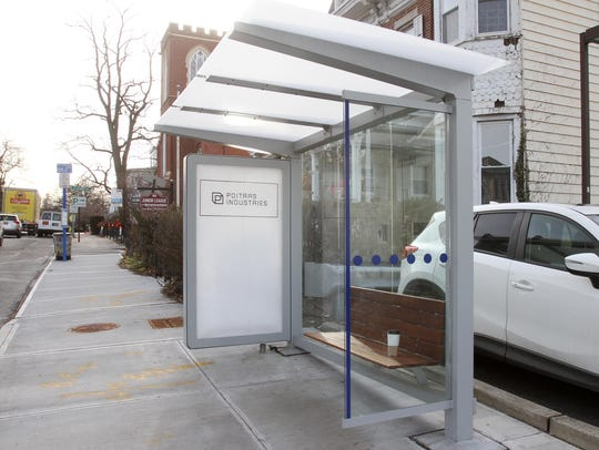 Lower Hudson Transit Link bus stop on Broadway and