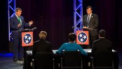 Former Nashville mayor Karl Deal, left, and House Minority