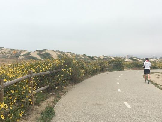A bike path at San Buenaventura State Beach will close