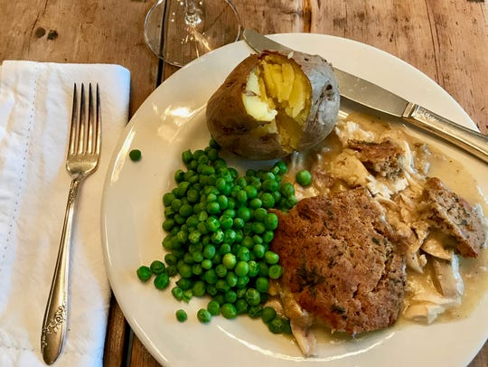 Use up leftovers with Creamy Crusty Chicken Bake, a