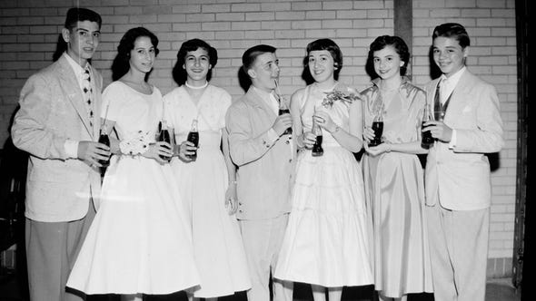 Vineland High School dance. 1953.