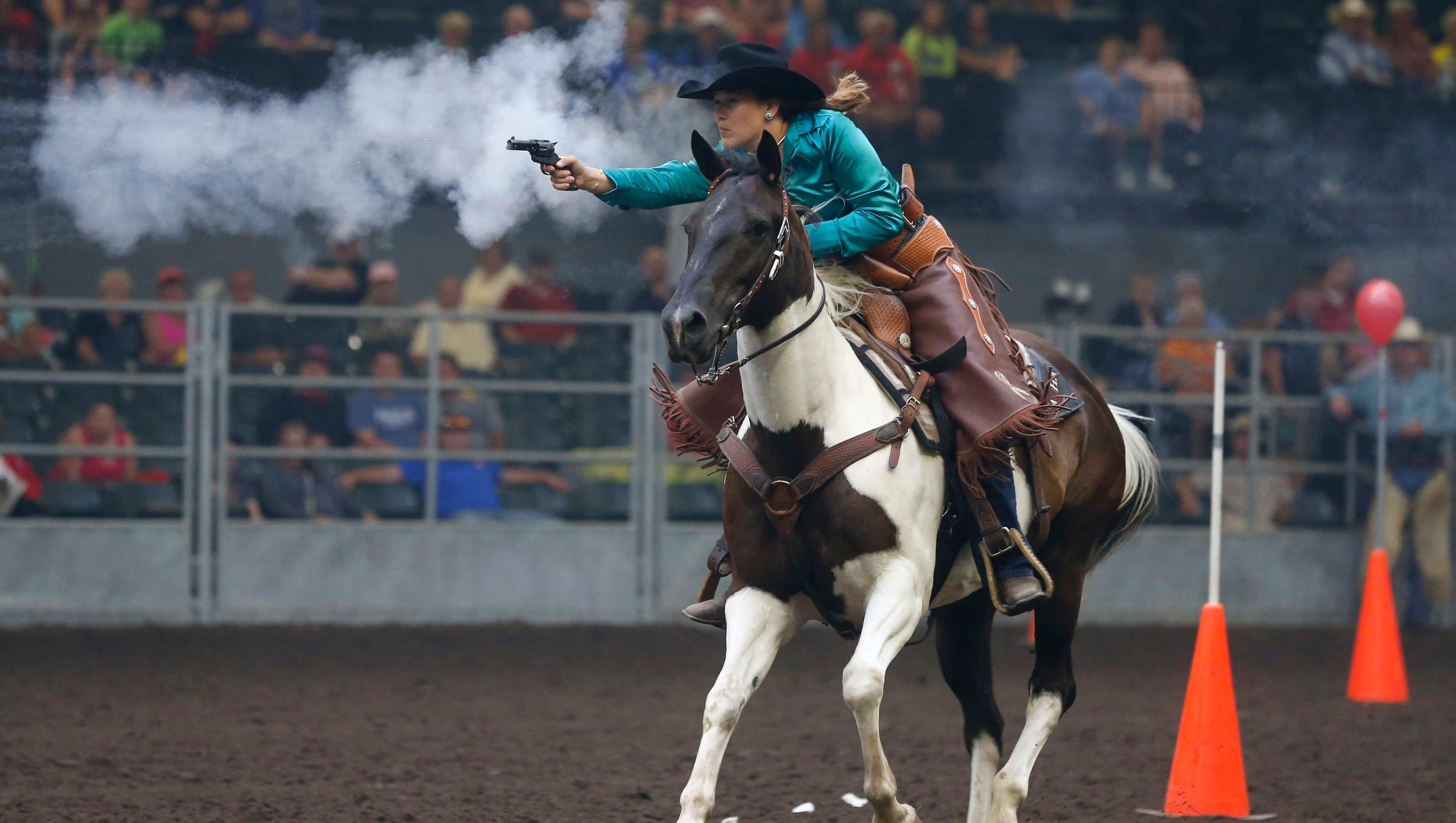 photos  cowboy mounted shooting at the iowa state fair