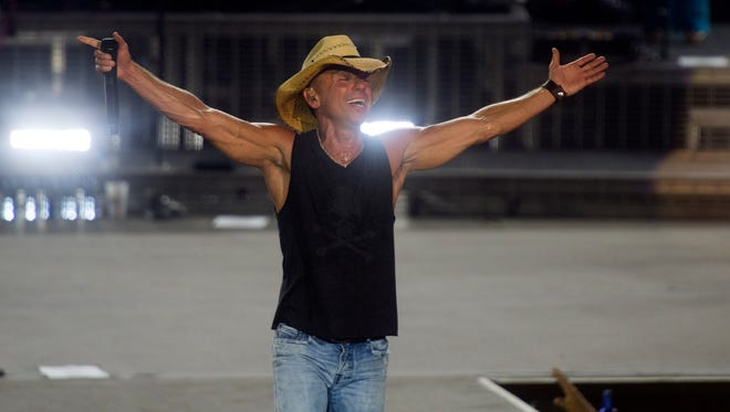 Kenny Chesney performs at Bristol Motor Speedway on Friday, September 9, 2016. (SAUL YOUNG/NEWS SENTINEL)