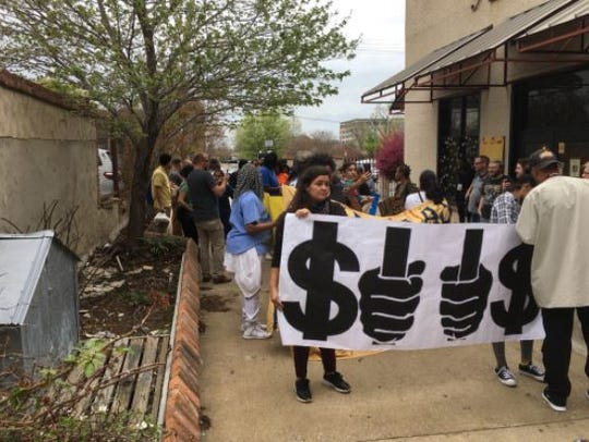 Several activists were arrested at a protest against immigration detention policies outside of the Walter L. Bailey, Jr. Criminal Justice Center in Memphis.