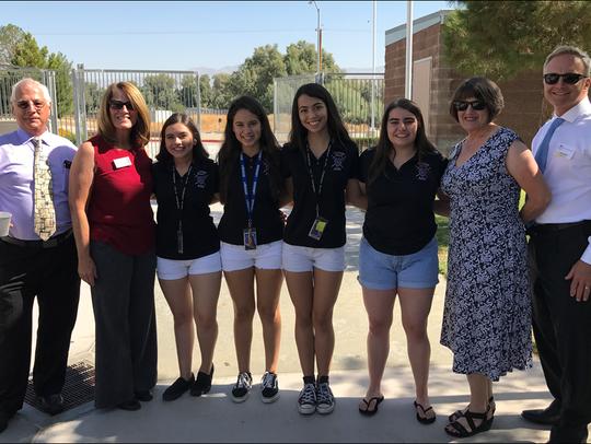 Shadow Hills High School students at a 2016-2017 school