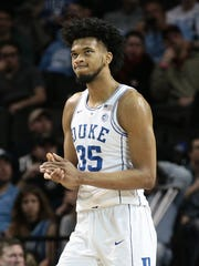 Marvin Bagley III reacts during a game against the