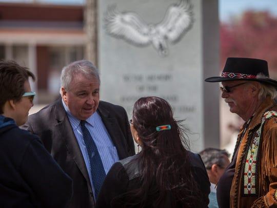 Circleville Massacre Memorial dedication, Friday, April 22, 2016.