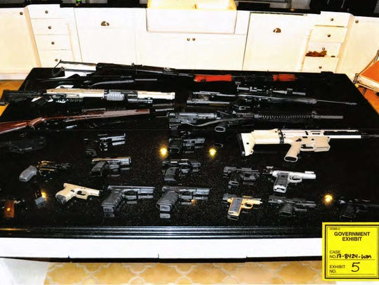 Guns found in the home of Johnny Benjamin, an orthopedic