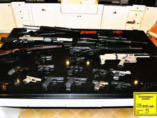 Guns found in the home of Johnny Benjamin, an orthopedic surgeon from Vero Beach facing federal drug charges