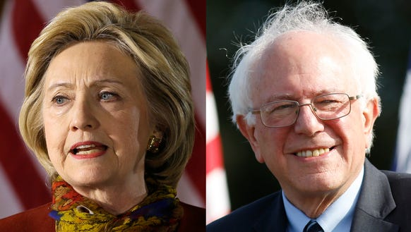 Democratic presidential candidates Hillary Clinton