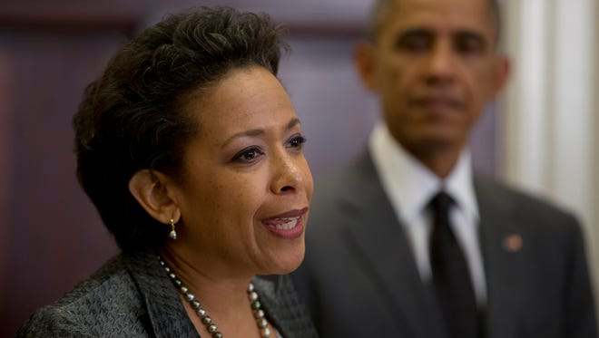 President Obama and Attorney General Loretta Lynch.