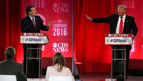Ted Cruz and Donald Trump participate the GOP debate