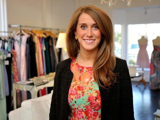 Katy Barham owns Bella Bridesmaid on Jackson Street