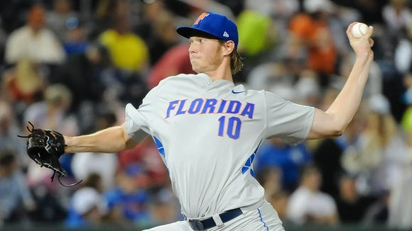 Florida lefty A.J. Puk is projected by many to go No. 1 overall in June's MLB draft.