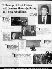 Donald Trump took out an ad in the August 21, 1997 edition of the Detroit Free Press touting the Detroit Casino he would build.