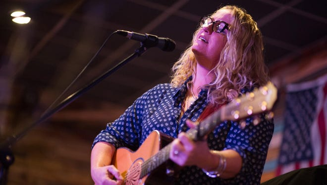 Meg Gehman of Rochester was among performers Saturday at Sober Life Radio's first concert in Rochester, highlighting musicians in recovery from drug and alcohol addiction.