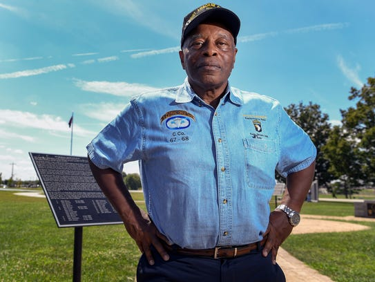 Retired Staff Sergeant Randy Worrell poses for a portrait