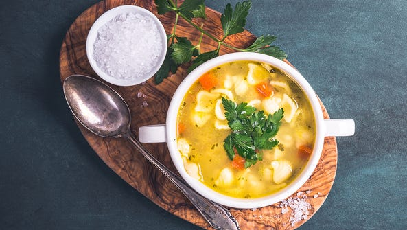 Scientists have found that a hot bowl of chicken soup