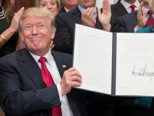President Trump issued an executive order on health care plans, alongside removing subsidies that could result in 5,000 to 10,000 Mississippians leaving the federal marketplace. US President Donald J. Trump holds up an executive order on healthcare after signing it during a ceremony in the Roosevelt Room of the White House in Washington, DC, USA, 12 October 2017. The executive order overhauls federal regulations of the health insurance market, encouraging insurance companies to create cheap plans. Critics of the plan say that it could draw away young and healthy people from the markets created by the Affordable Care Act.