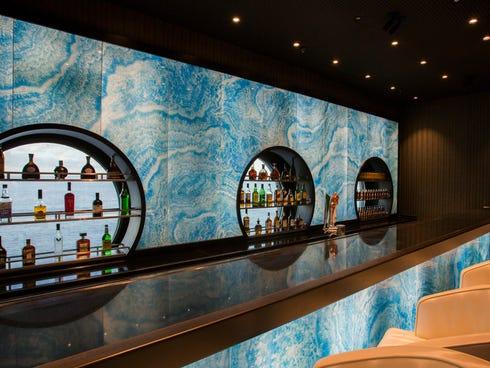 The Fathoms bar on Disney Cruise Line's new Disney Magic.