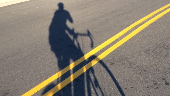 Happiness is easy cycling during an cool summer morning.