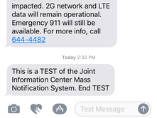 Mass notification SMS alert test finds gaps