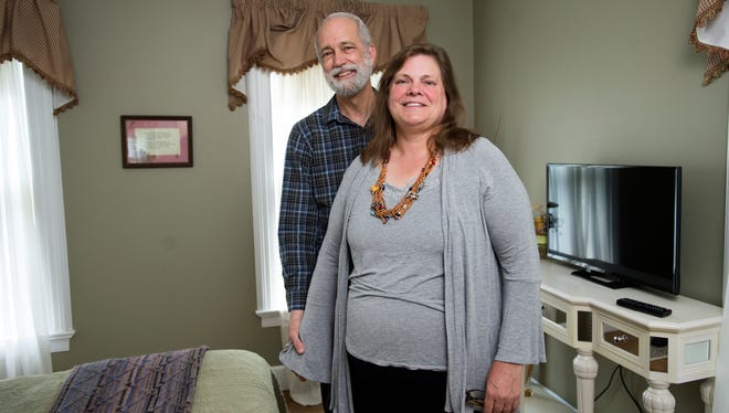 Pamela and David Grimm, owners of the Park House Bed and Breakfast on Binghamton's West Side.