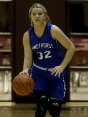 Windthorst's Tatum Veitenheimer dribbles upcourt in