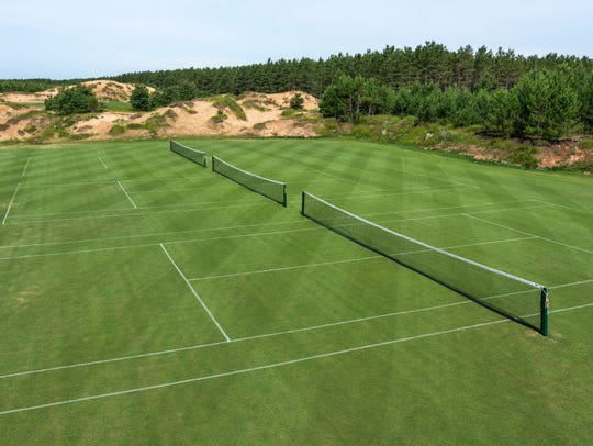 You can now find more than just golf at Sand Valley Golf Resort – the resort premiered three grass tennis courts with a July 25 competition.