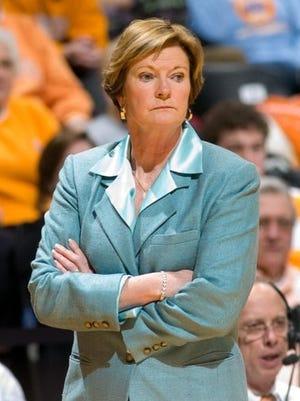 Tennessee women's basketball coach Pat Summitt in 2010.