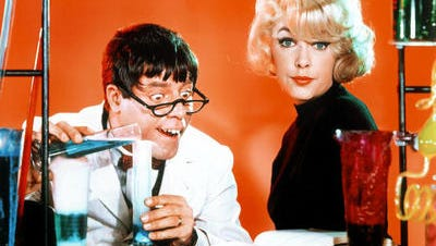"""Jerry Lewis and Stella Stevens were in Tempe to film """"The Nutty Professor"""" in fall 1962, interacting with ASU football coach Frank Kush."""