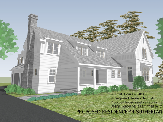 The proposed residence for 44 Sutherland St. in Pittsford.