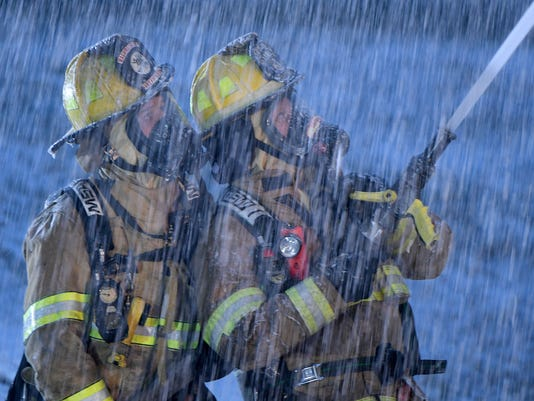 Structure fire on Marion Avenue Road