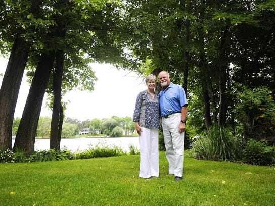 Mary and Jim Michaud reflect Monday on the first time