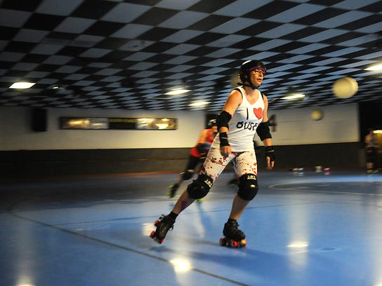 Nicky Lahr, also known as Sybil Disobedience, skates