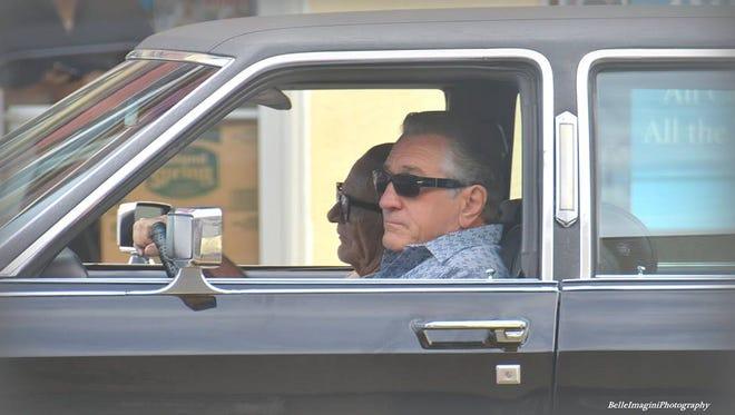"""Robert De Niro during filming of """"The Irishman"""" in New Jersey on Sept. 21."""
