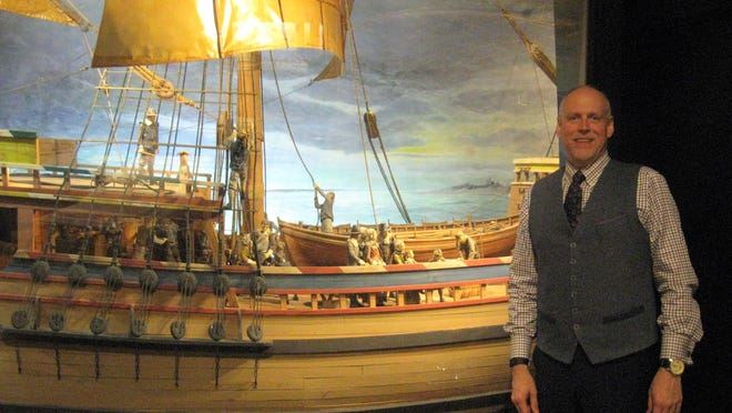 Pilgrim Monument and Provincetown Museum Executive Director K. David Weidner stands inside the museum.
