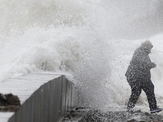 APTOPIX Northeast Storm