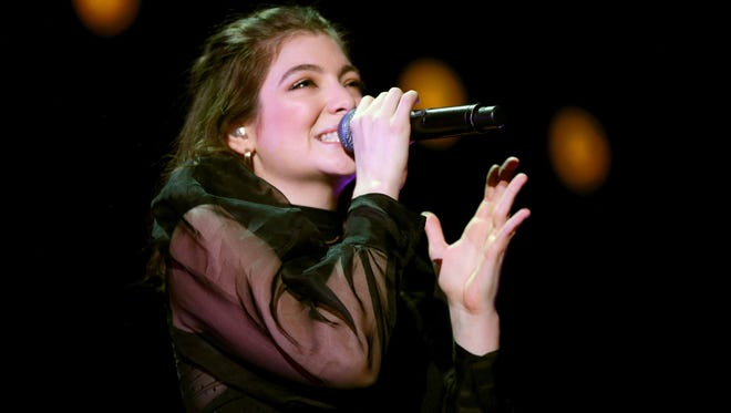 Lorde performs onstage during the 2017 iHeartRadio Music Festival in Las Vegas on Sept. 23. The New Zealand-born pop singer released her sophomore album, 'Melodrama,' in June.