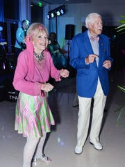 "Laura and Bill Buck take to the dance floor at the Vero Beach Museum of Art's first-class gala ""Rock of Ages"" on Jan. 26."